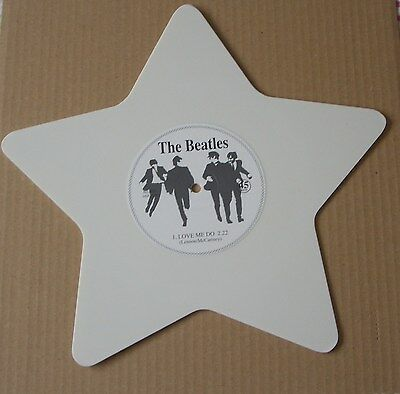 "The Beatles – Love Me Do – Limited Edition White Vinyl Star Shape 7"" Single"