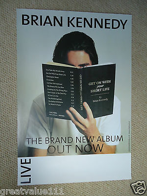 Brian Kennedy Gig Poster 2001 Unreleased Promotional Poster Mint 15Yrs Rare Gem