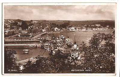 Old Postcard Rothesay West, Posted 1949. Valentine & Sons Ltd.  Real Photograph.