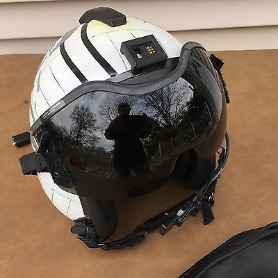 US HGU-84/P Helicopter Pilot Helmet Gentex King Leonidas of Sparta with Goggles.