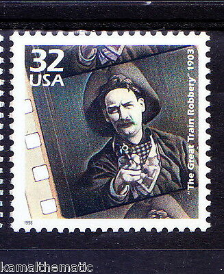 USA MNH, The Great Train Robbery, Film by Edwin S Porter 1903   - M38