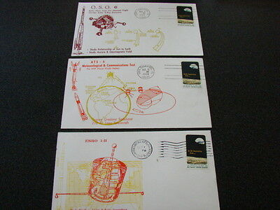 United States 1969 SPACE/SATELLITES Special Covers x 3