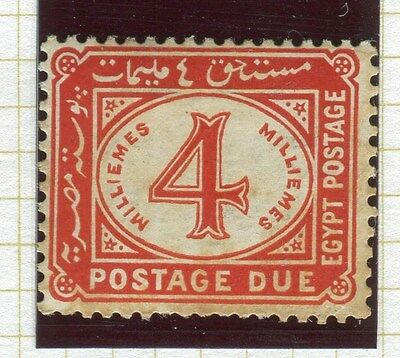 EGYPT;  1921-22 early Postage due issue fine Mint hinged 4m. value