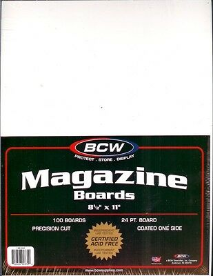 (100) Bcw Magazine Size Backing Boards - Priority Shipping