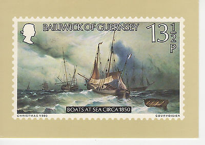 Guernsey -  1-C  Phq Card With Matching Stamp - 1980