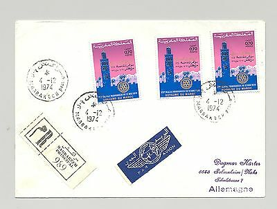 Morocco 1974 Rotary on Registered Cover to Germany