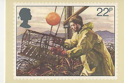 GREAT BRITAIN -  FISHING -  POST CARD PHQ55(c) - 1981