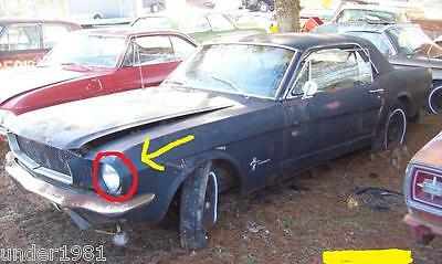 1965 1966 Ford Mustang Coupe Used Left 1/4 Window Glass Assembly Project Parts