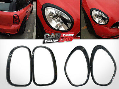 Glossy Black Tail Lights+Head Lamp Overlay Cover for Mini Cooper Countryman R60