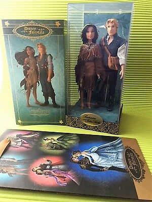Disney Fairytale Designer Collection Pocahontas and John Smith Doll Puppe LE