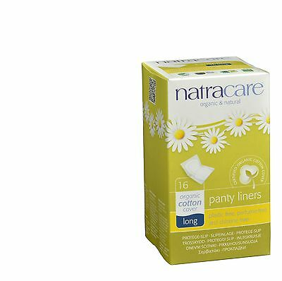 Natracare Panty Liner - Long Wrapped - 16 count