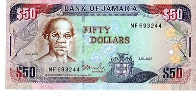 Jamaica 2007 50 Dollars Currency Unc