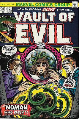 Vault of Evil Comic Book #3, Marvel Comics 1973 VERY FINE-