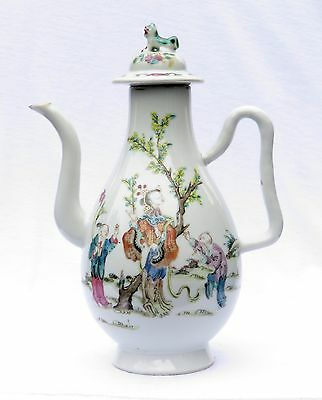Fine Antique Chinese Porcelain Wine / Coffee Pot Tongzhi, Famille Rose, 19Th C