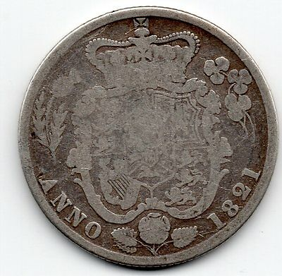 1821 GEORGE IIII IV Sterling Silver SHILLING Coin