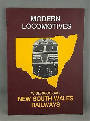 Modern Locomotives New South Wales Railways 1976 Revised Edition Booklet