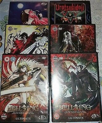 Bundle of 6 anime manga dvds in good condition