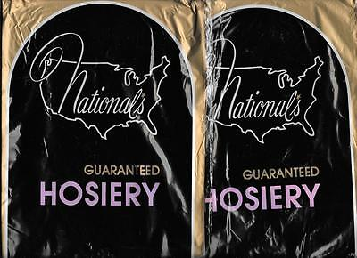 Vintage National's Hosiery Nylon Stockings 2 PAIRS One Size Color T14 New Old