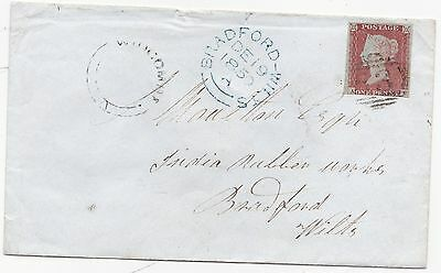 1850 Bath =53= Numeral & Udc Widcombe Cover To India Rubber Works Bradford Wilts