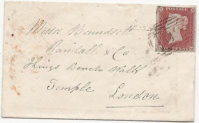 1854? SCARCE =102= NUMERAL WOOLPIT & RED NORTON UDCS 4 MARGIN 1d IMPERF  LONDON
