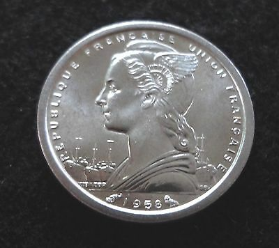 Madagascar Uncirculated 1958 1 Franc Coin FREE S/H