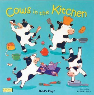 NEW Cows in the Kitchen By Airlie Anderson Board Book Free Shipping