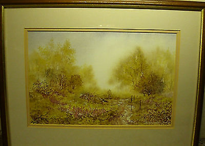 """A """"the Birch Grove"""" Mounted & Framed Print By """"anthony Waller"""".."""