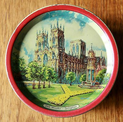 "1950s  VINTAGE USED LOVELY COLLECTABLE TIN "" CRAVEN & SON OF YORK"" NICE & SCENIC"
