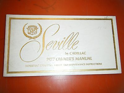 1977 Cadillac Seville Factory Operators Owners Manual