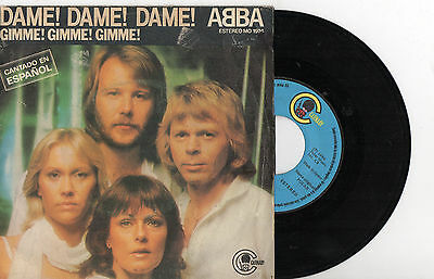 """ABBA  Dame! dame! dame! /The King Has Lost His Crown, 7"""" SPAIN 1980 EN SPANISH"""
