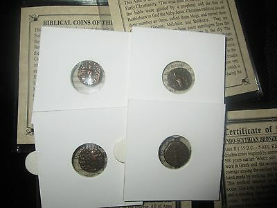 1- PREMIUM GRADE -Ancient Bronze  Roman Bible Coins of the Magi '3-Wisemen'  COA