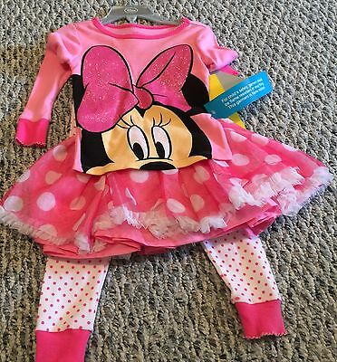 Toddler Girls Disney Minnie Mouse Valentines Day Pink Outfit 2 Toddler