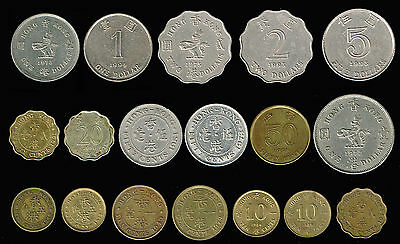 HONG KONG:-18 different British Rule (George VI-QEII) circulation coins ADP5623
