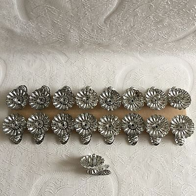 17pcs Vintage Swedish Christmas Tree Metal Candle Holders 1940