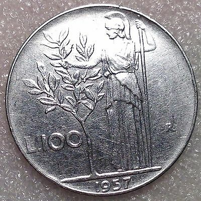Italy 100 Lire 1957R High Grade! Valuable Coin!