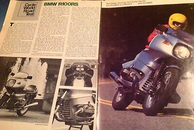 7 Pages Road Test 1977 BMW R100RS Street Motorcycle