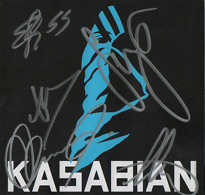 KASABIAN band REAL hand SIGNED self-titled CD by entire band #2 COA