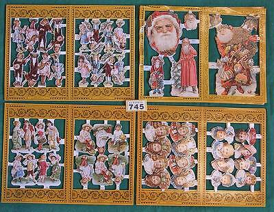 Y745 Mamelok Victorian Christmas scraps for cards, crafts  48 large sheets