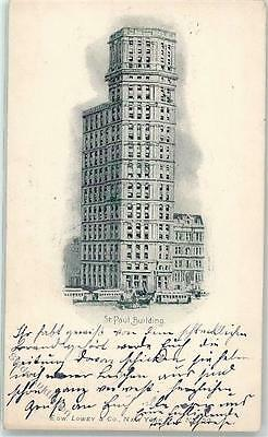 52228145 - New York City St.Paul Building Ort lt. Stempel Strassenbahn