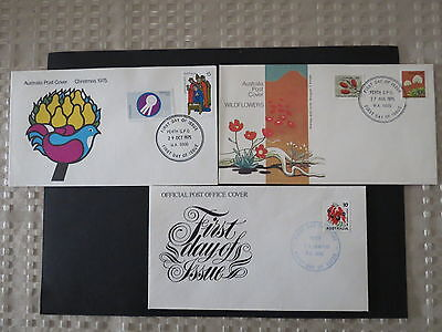 1-2 Price Each 1975 Christmas Official Post Stamp Fdc Australia First Day Cover