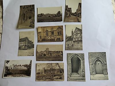 Collection of Eleven Vintage Postcards of Laycock, Wiltshire.