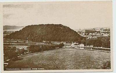 TOMNAHURICH, INVERNESS from CANAL, INVERNESS-SHIRE - RPPC (A96)