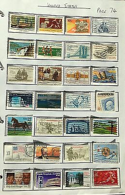 USA  28 Commemorative used Stamps