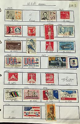 USA 1959-88  40 used airmails  STAMPS