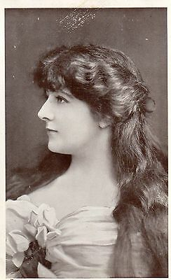 Vintage Postcard.actress Miss Olive Morrell Edwardian Glamour Long Hair Tuck Rp