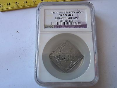 16 Or 1563, Old Sweden Silver Coin !!! Very Rare !!!