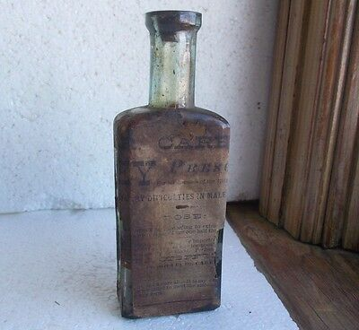 WAVERLY,NY CAREY & SON GESS EMB & LABEL DR.CAREY'S KIDNEY PRESCRIPTION 1880s