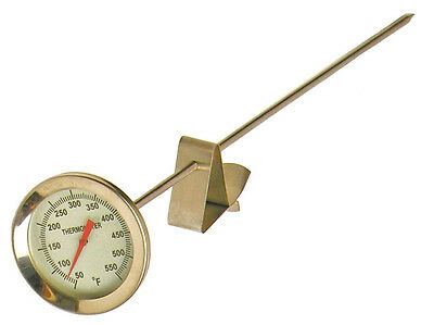 """Cajun Injector 12"""" Deep Fryer Turkey Poultry Candy Jam Kitchen Bbq Thermometer"""