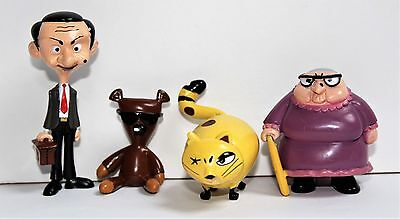 Set 5 Figuren Mr. Bean Teddy Irma Gobb Scrapper Mrs Wicket 4 - 7 cm - Marukatsu