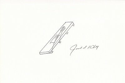Jack S. Kilby Inventor Signed Autographed Drawn Rare Microchip Sketch CLOSEOUT